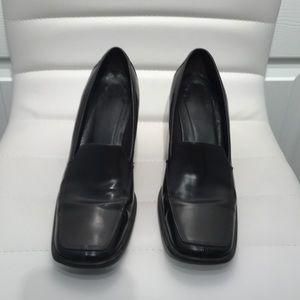 Coach | Elsa Burgundy Block Heel Pumps. Square Toe